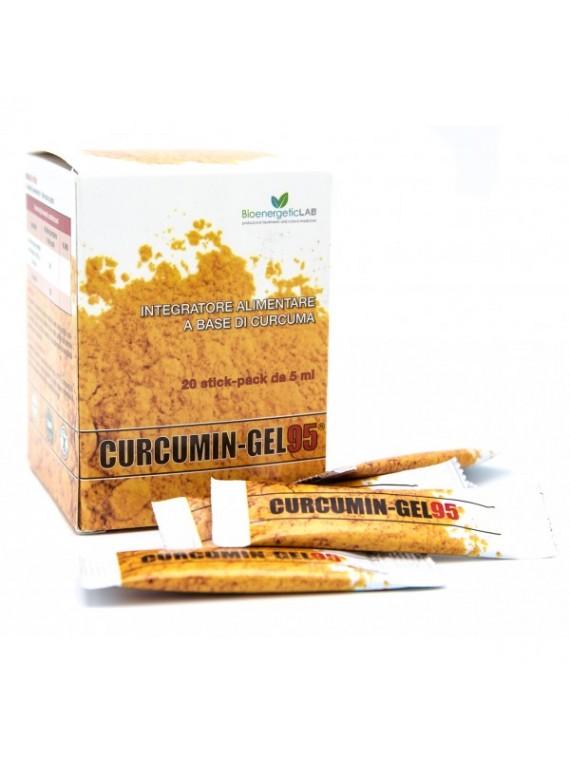 CURCUMIN-GEL 95+ Maisto papildas, 20 pakelių po 5ml