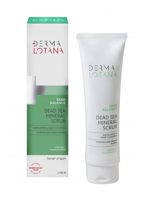 DERMA LOTANA Negyvosios jūros mineralinis šveitiklis SEBO BALANCE 100 ml