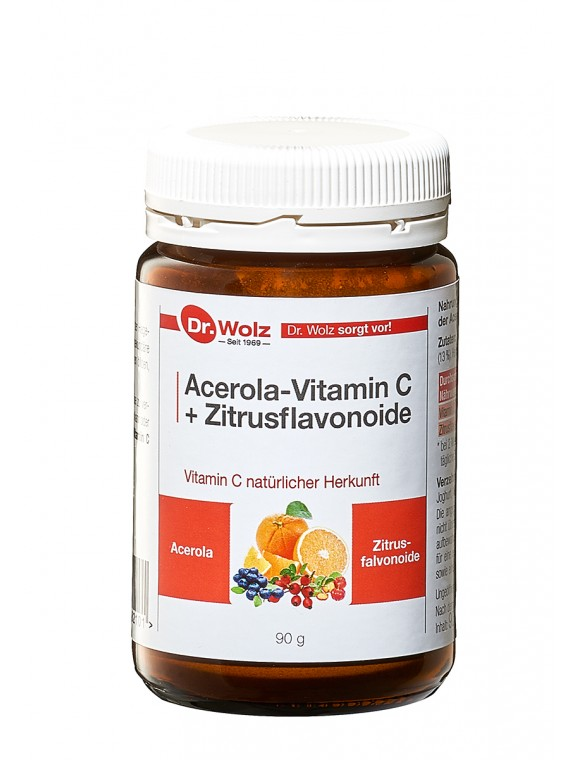 Dr.Wolz Acerola-Vitamin C + Zitrusflavonoide 90g