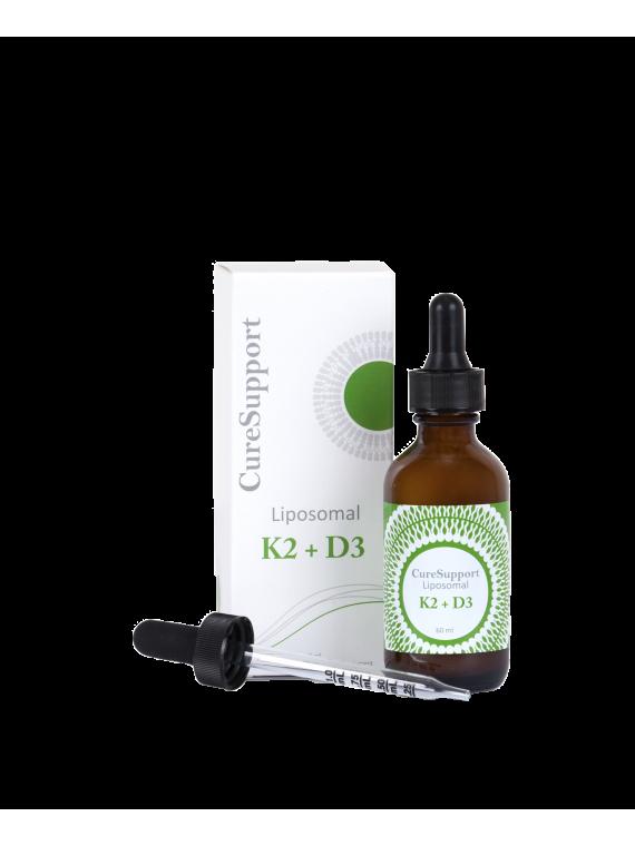 Vitaminai K2+D3 Skystas liposominis maisto papildas 60 ml