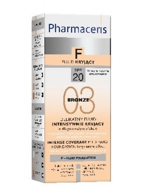 Pharmaceris F SPF20 Nr.3, Švelni intensyviai maskuojanti pudra, 30ml