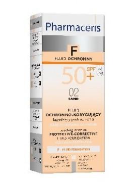 Pharmaceris F SPF50+ Nr.2, Apsauginė maskuojamoji skysta pudra, 30ml